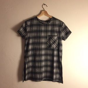 Zara Plaid Cotton Top